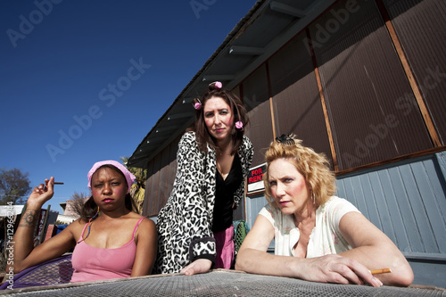 Fotografie, Tablou  Three Trashy Women