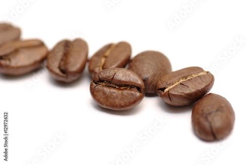 Deurstickers koffiebar grains de café