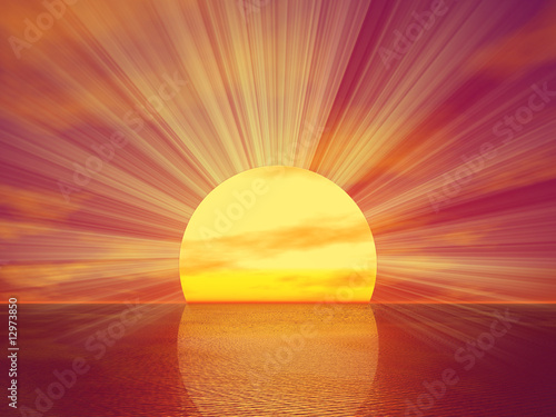 Golden Sunset Wallpaper Mural