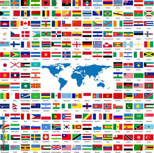 Fotografie, Obraz  Flags from all over the world