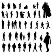 people general silhouettes