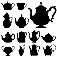 Tea And Coffee Pots - Vector S...
