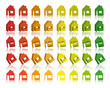 Eco houses 3D Vector