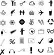 Piktogramme schwarz - interent, Reisen, Kommunikation