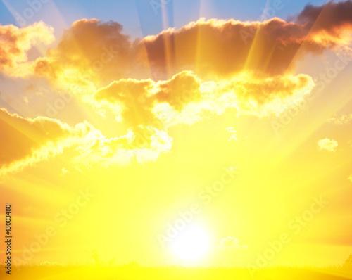 Poster Jaune Sunset background