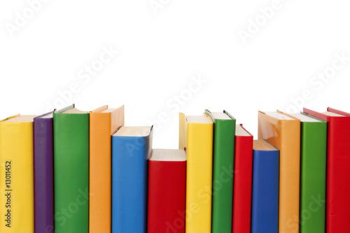 Fotografie, Obraz  Colorful books border