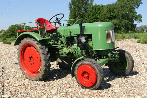 Photo  Old, historic tractor, germany, europe