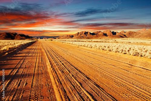 Poster de jardin Desert de sable Kalahari Desert, Namibia