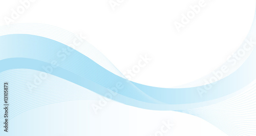 Photo Stands Abstract wave Blue Background