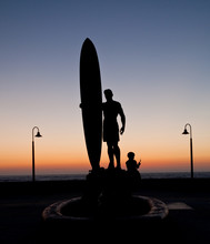 Surfer Statue In Imperial Beach