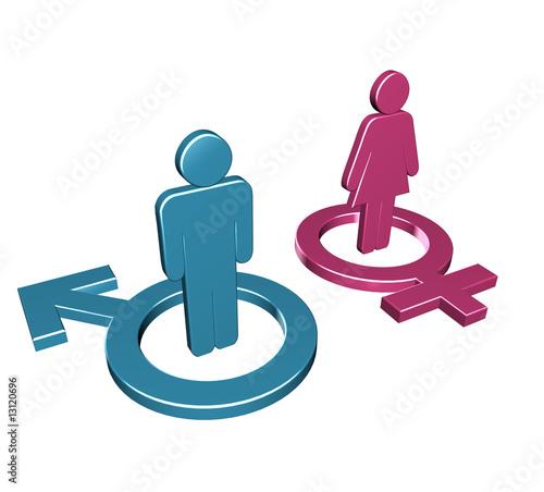 Weiblich oder männlich zeichen