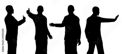 Fotografia, Obraz Barack Obama silhouette isolated on a white background