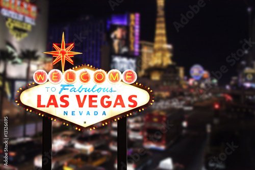 Tuinposter Las Vegas Welcome to Las Vegas Nevada