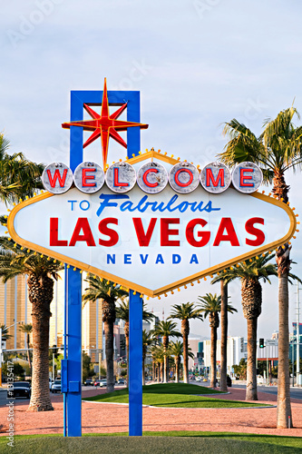 Deurstickers Las Vegas welcome to Las Vegas sign