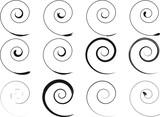 Floral schwarze Spirale