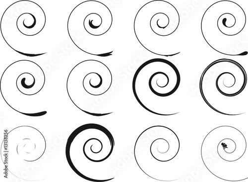 Printed kitchen splashbacks Spiral Floral schwarze Spirale