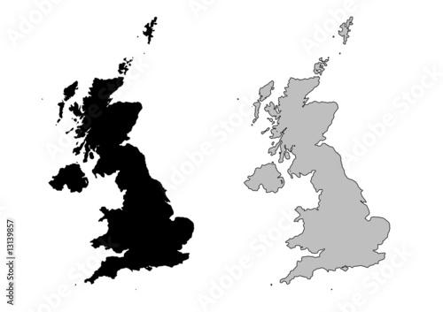 Valokuvatapetti United kingdom vector map