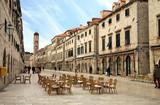 Fototapeta Uliczki - Main street in Old Town in Dubrovnik, Croatia
