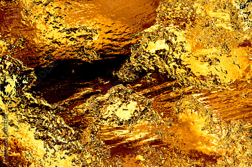 Fotografia, Obraz  Gold bullion foil background