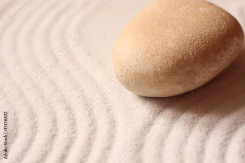 Photo sur Plexiglas Zen pierres a sable galet