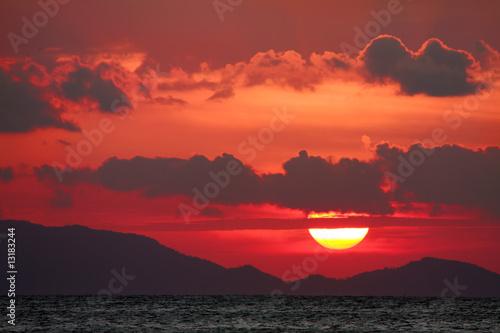 Spoed Foto op Canvas Bruin Red Sunset