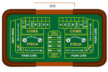A Craps Table With Odds Bets