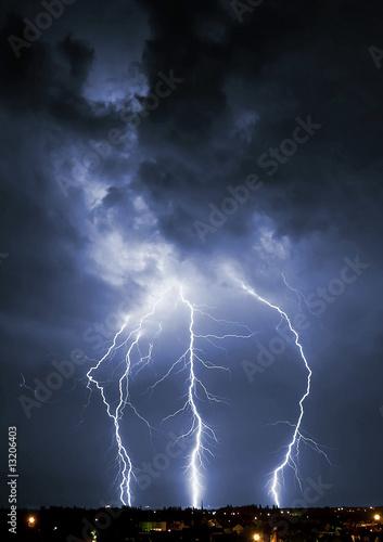 Keuken foto achterwand Onweer Lightning
