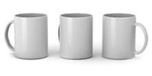 Three Clean Mugs For Design Pr...