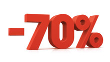 Percentage, -70%
