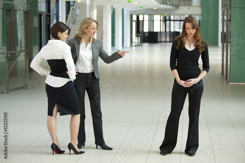 bullying businesswomen Wallpaper Mural