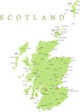 Scotland Map Part Of The United Kingdom.
