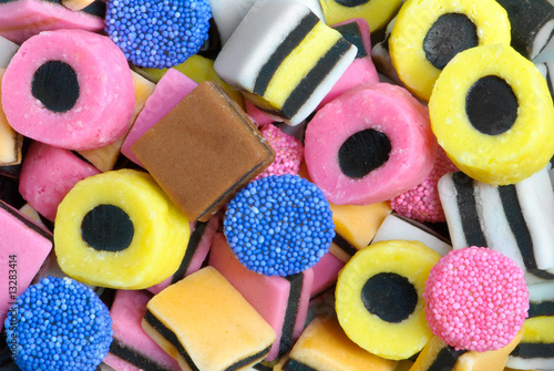 Liquorice Sweets Wallpaper Mural