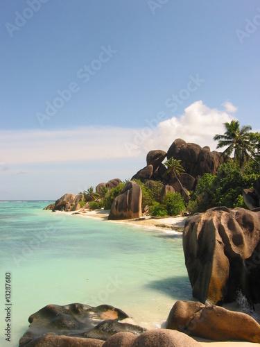 Foto-Schiebegardine Komplettsystem - Seychellen (von Fastclose)