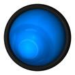 canvas print picture - blauer ozean button