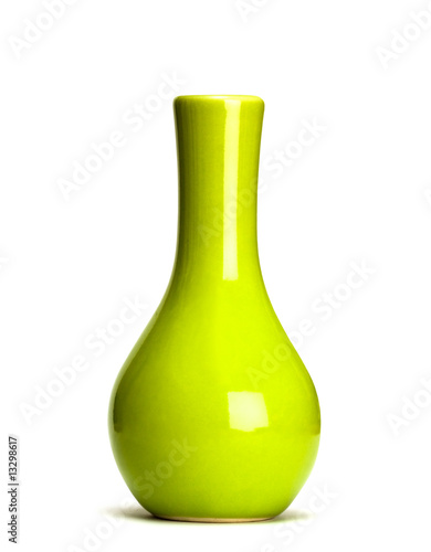 Fotografie, Obraz  green vase isolated on white background