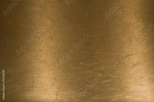 Fotografie, Obraz  Brass metal background