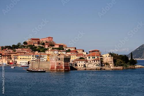 Fotomural Porto Ferraio, Hafen Insel Elba, Toskana, Italien,