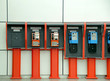 Telephones in an airport
