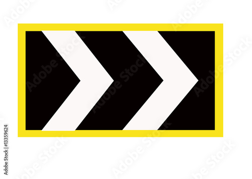Motorway Chevron Sign Buy This Stock Illustration And Explore