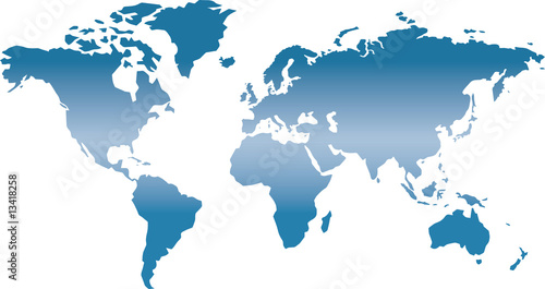 Fotobehang Noord Europa Weltkarte