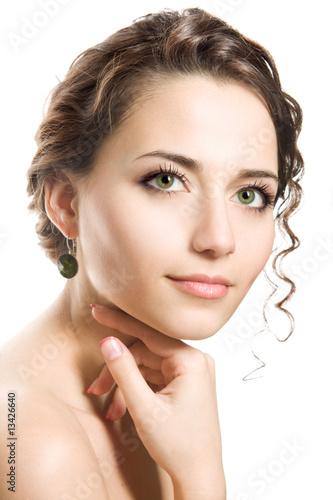 Valokuva  Studio portrait of a beautiful brunette woman