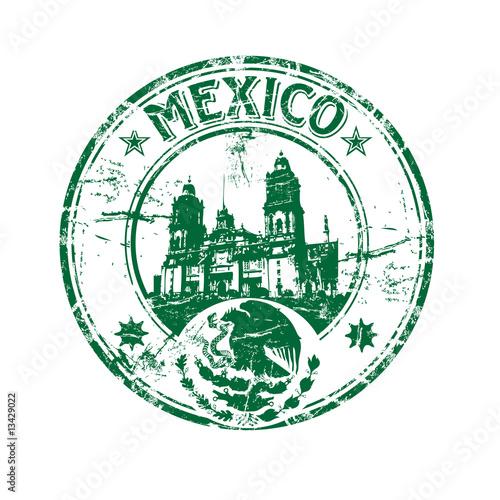 Fotografie, Obraz  Mexico rubber stamp