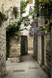Fototapeta Alley - budva old town street, montenegro