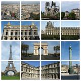 Fototapeta Fototapety Paryż - Les monuments de Paris