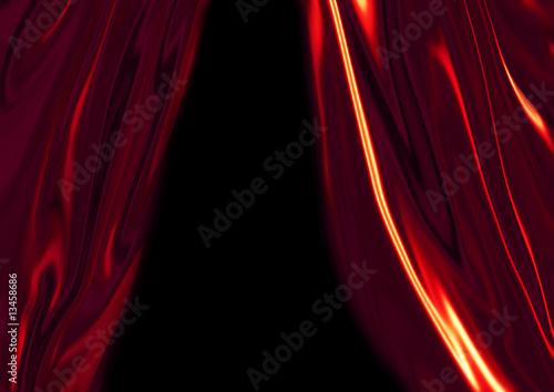 Fotobehang Stof Red silk drapes