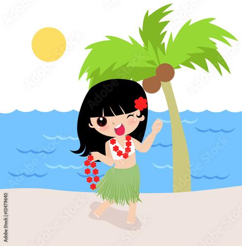 Foto-Stoff - hawaii girl (von Ala)