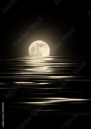 Fototapeta Golden Moonlight obraz na płótnie