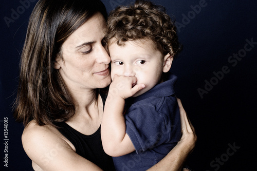 Photo  Mother and son