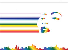Rainbow Line Woman