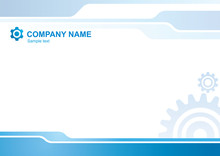 Corporate Vector Background With Gears